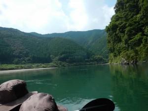カヌーとキャンプ旅 四万十川の2日目 午後