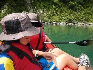 カヌーとキャンプ旅 四万十川 3日目の午後