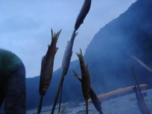 カヌーとキャンプ旅 四万十川 3日目の晩ごはん