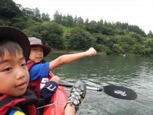 カヌーとキャンプ旅 四万十川の日 漕ぎはじめ