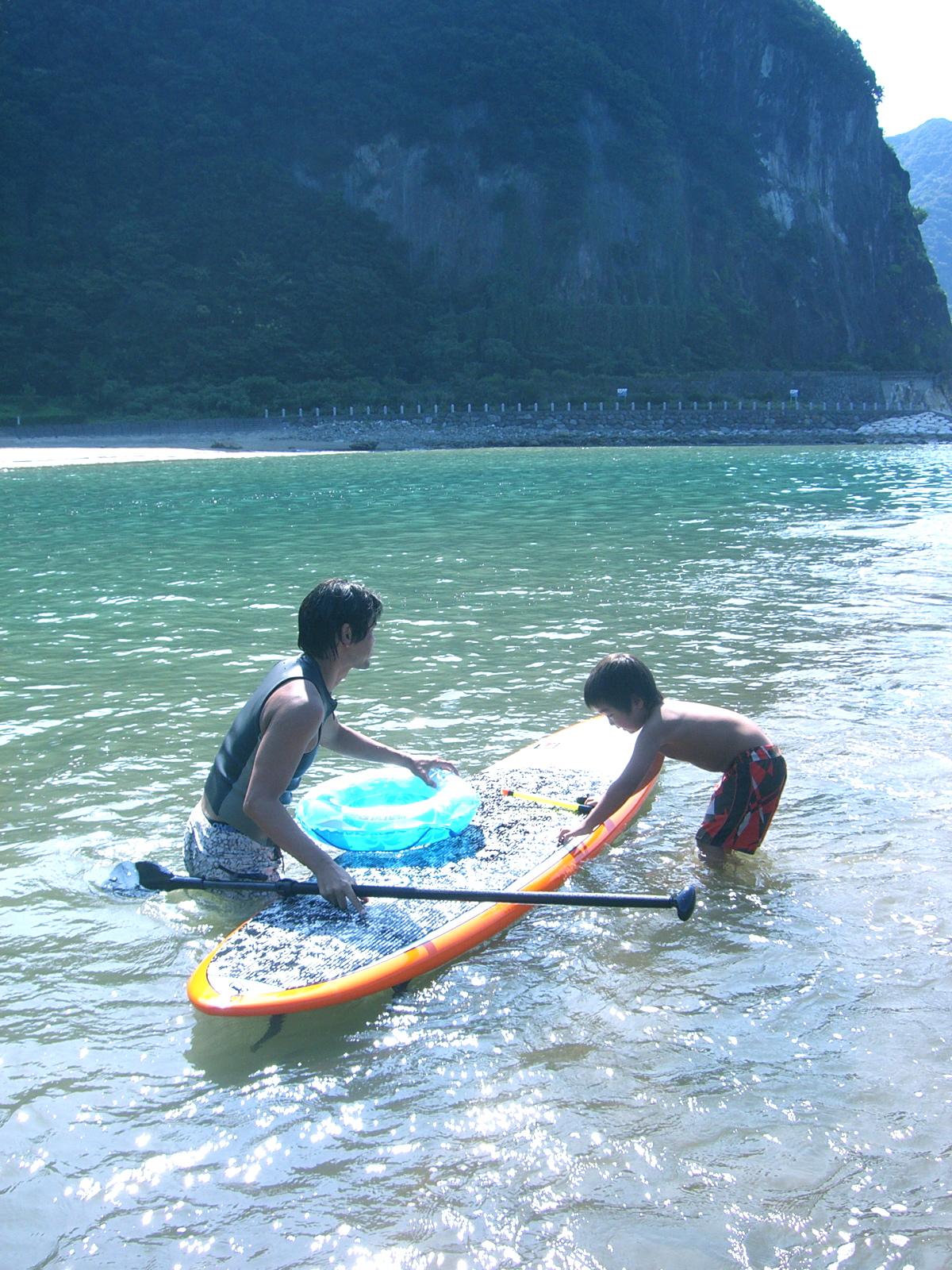 supで子どもと海冒険