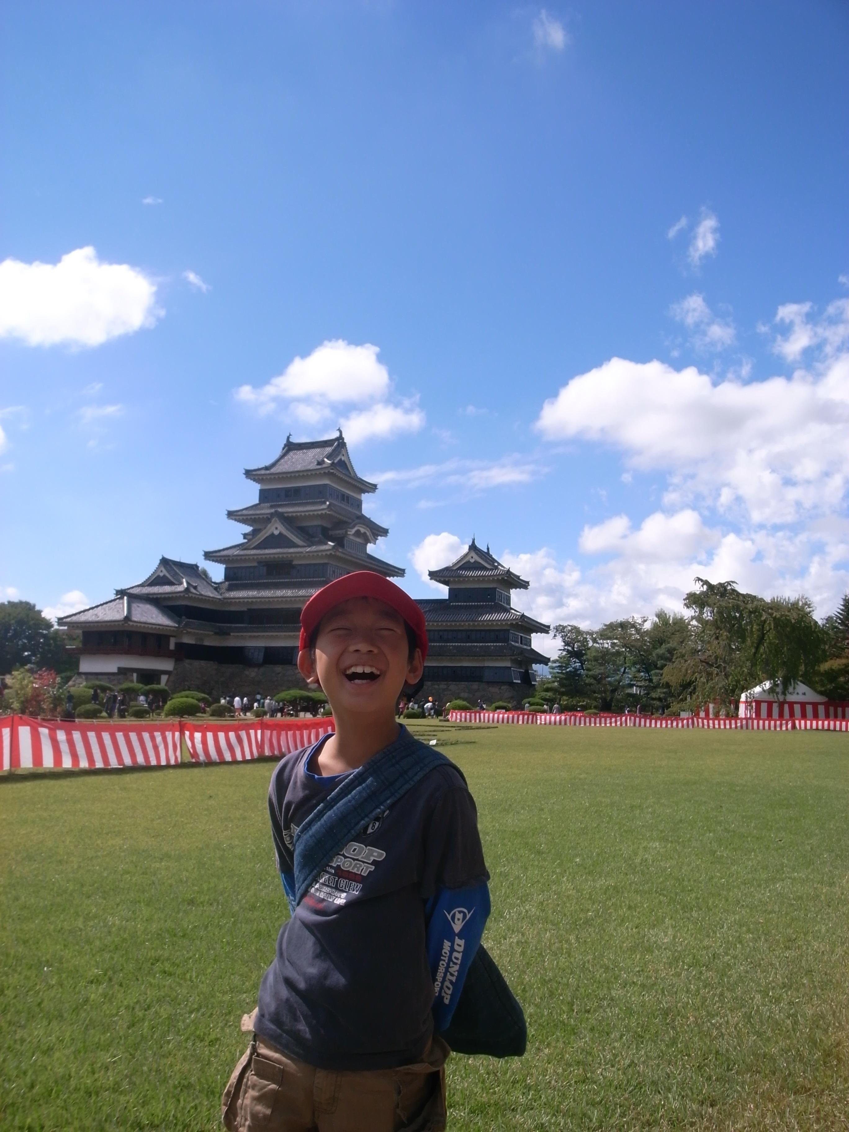 歴少年、松本城へ!