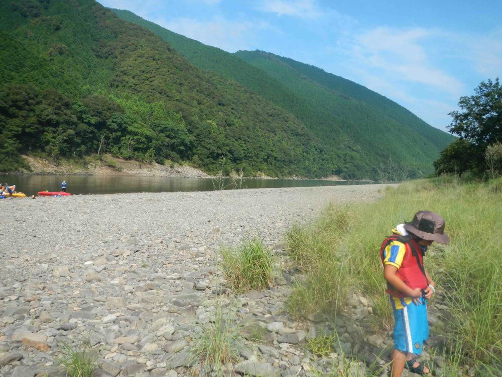 カヌーとキャンプ旅 四万十川の日 夕方