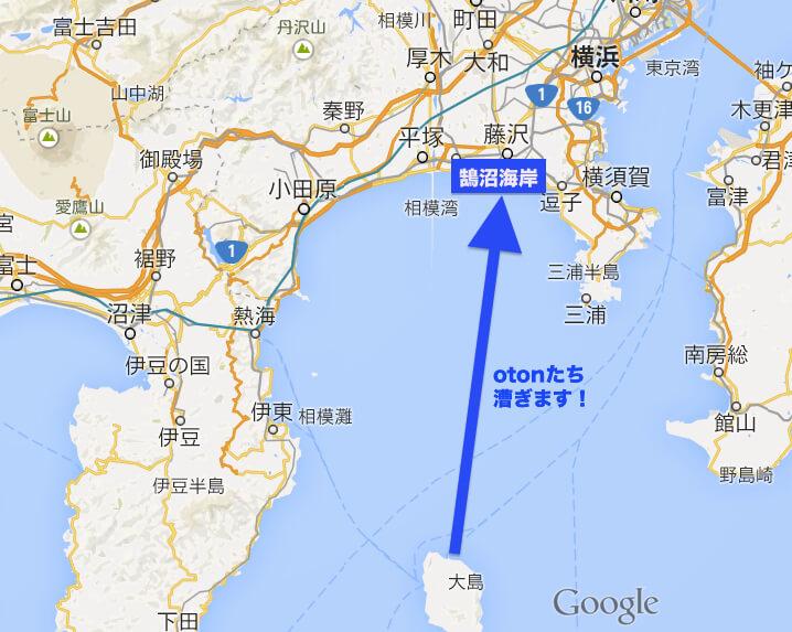 8/17 伊豆大島〜江ノ島パドリングします!
