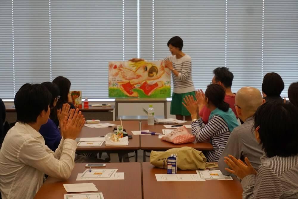 絵本を読んでもらうという大人のワークショップをヤフー株式会社で開催