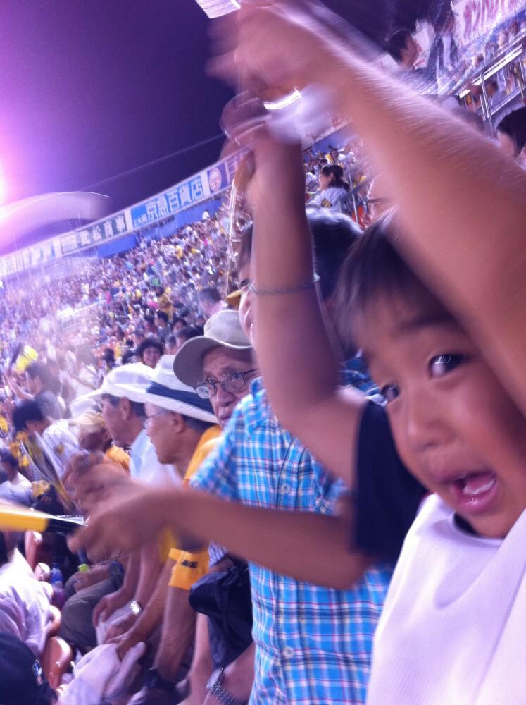 親子で野球観戦の今年。