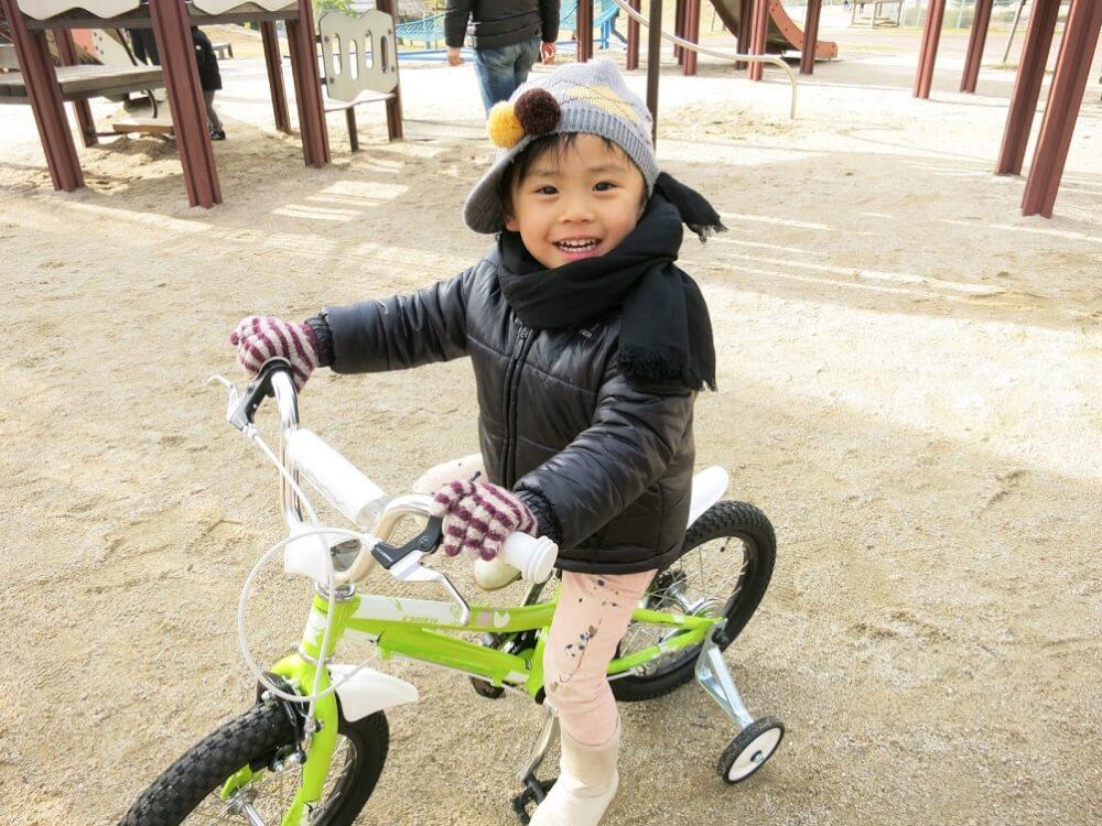息子の自転車特訓