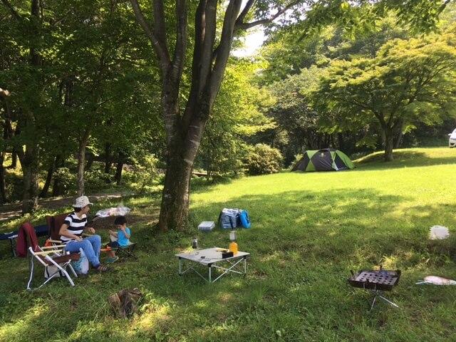 会社仲間と家族で、キャンプ。