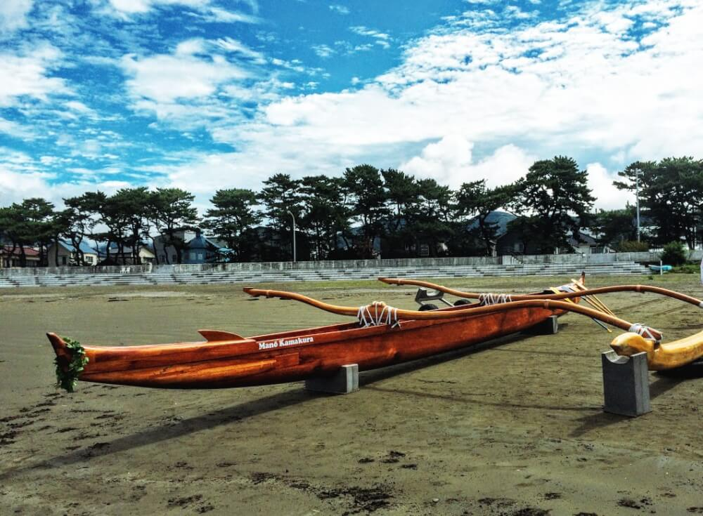 アウトリガーカヌー「ManōKamakura号」を漕ぎに西伊豆の松崎へ