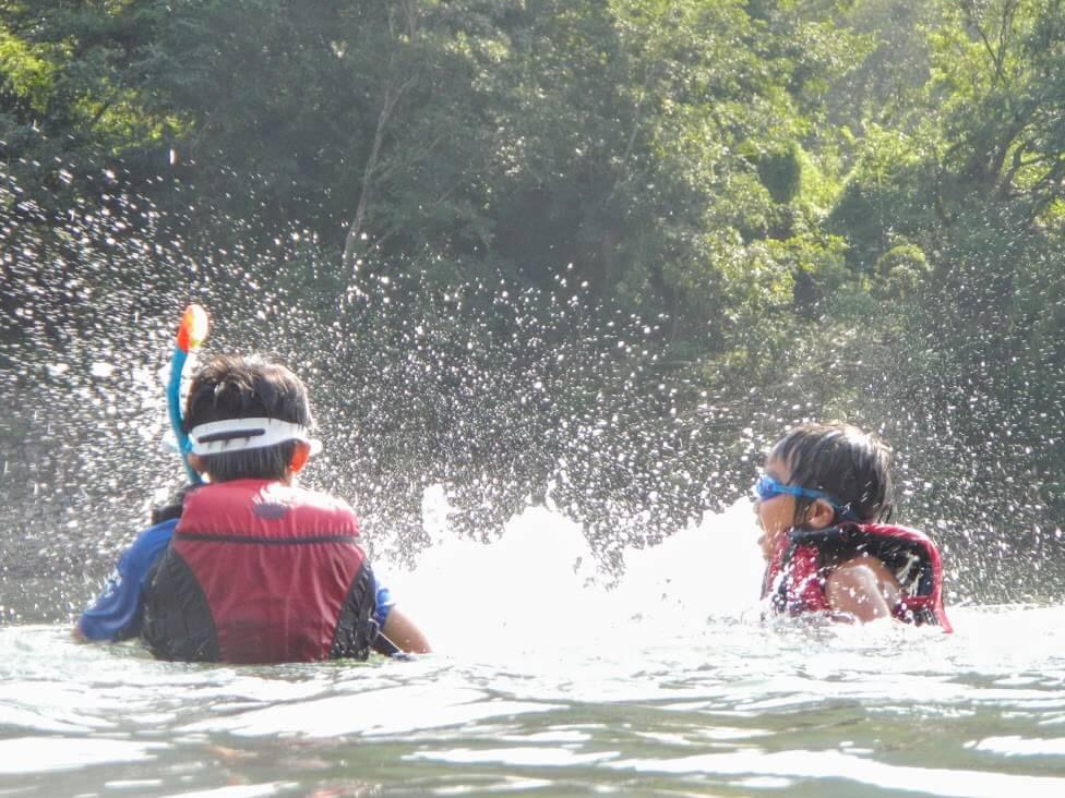 夏休みの家族旅行は、四万十川でカヌーキャンプ再び。